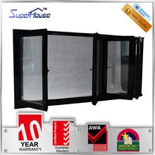 2015 Popular AS2047 standard alumunium folding window for hot selling