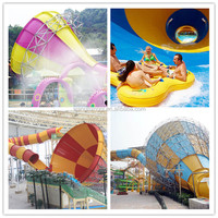 2015 best hot sale big tornado fiberglass water park slide of swimming pool slide for sale