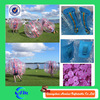Pink color dots bubble ball soccer dia1.2m / 1.5m / 1.8m inflatable soccer bubble for sale