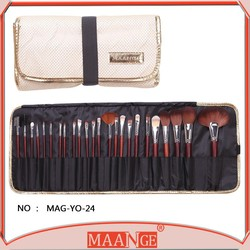 New! 24 pcs Professional Makeup Brush Kit Makeup Brushes Sets Cosmetic Brushes && Good Quality PU Leather Bag