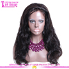 2016 Hot sale cheap unprocessed body wave full lace wig brazilian remy with bangs 100% virgin brazilian body wave full lace wig