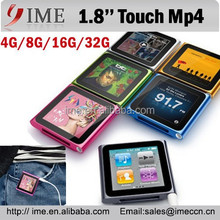 Touch Screen 8GB 6th Gen Clip Mp3 Mp4 Player 1.8'' LCD Sport Mp4 Mp5 FM/Record