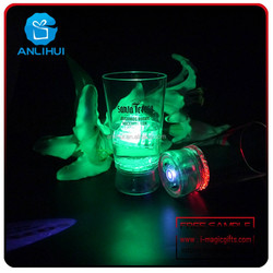 Fashionable top sell decorative best colorful led projection cup for bar
