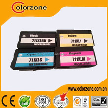 compatible HP 711 refill ink cartridges for T120 T520 with chips