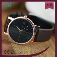 China factory cheap direct sale fashion leather gold plating women's gifts watch