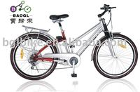 "2016 new BGL ECB04 26"" electric city bike china cheap chinese electric folding bike"