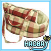 2104 New Products Classical Lattice Soft Suede Pet Travel Carrier Bag