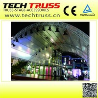 High Quality Aluminum Smart Curved Roof Truss