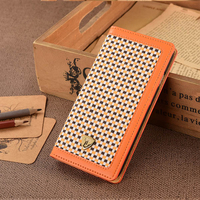 New Case, Flip Wallet Cover , Leather Case For iPhone 6 Phone Case Mix Tweed Fabric & PU Material For iphone Wallet Flip Cover