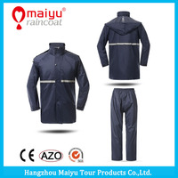Maiyu hot sell high quality polyester 2 pieces raincoat