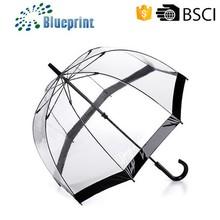 new business ideas transparent clear dome pvc umbrella