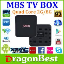 M8 M8s M8C s802 Full HD Media Player 1080p Android TV Box Quad Core box