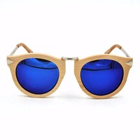 2015 wholesale vogue handmade bamboo glasses with wooden gafas de sol de madera sunglasses