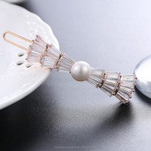 New arrival fashion pearl hair clip zircon hair accessories for women