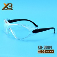 UV400 dust proof wraparound safety glasses
