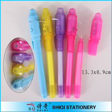 Magic uv light invisible ink ball pen
