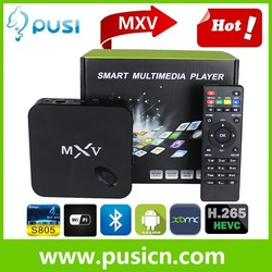 Android 4.4 Kodi installed S805 MXV android tv box Quad Core smart tv box