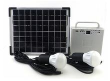 Promotional price 12w led solar lamp for outdoor and home as home power lighting system charged by sunlight (JR-SL988A)