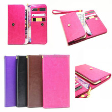 Universal Smart Phone Wallet Style Leather Case for 5.0 inch Phone Cover