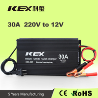 Stop automatically motorcycle trickle battery charger ac 220v dc 12v 30Ah battery charger OEM accept Stop automatically KEX-30A