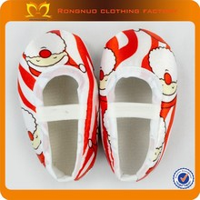 Cute Baby girls santa designs crib shoes First walkers newborn soft baby cotton shoes