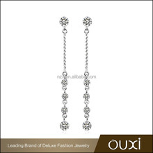 OUXI designs fashion girls plated gold new arrival earring jewellery