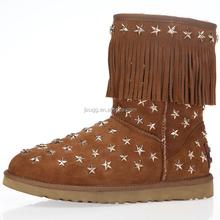 JLX3044 2015 the latest design, Australian sheepskin wool-one,metallic decoration snow boots, wholesale, factory provide