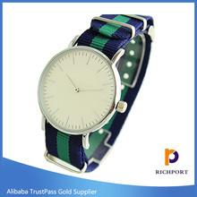 New arrival trend fancy fabric strap waterproof brand watch