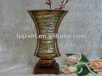 resin decorative vase ,resin stone design effect vase