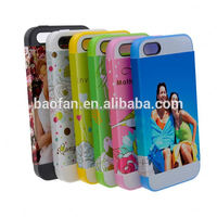 Year-end promotion!Offer printing service! blank 3d sublimation phone case cover high quality for iphone5 card slot
