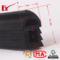 co-extrusion free sample auto windshield gasket as your drawing