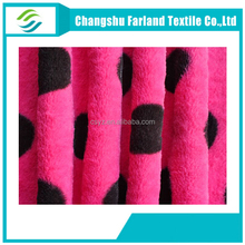 100 polyester print Plush fabric knitting