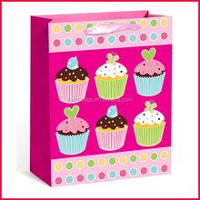 China Cake Paper Bag Manufacturer Supply Delicate Muffins Cake Gift Packing Bag