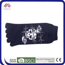 Boys cheap single cylinder cotton five toe socks/five finger socks