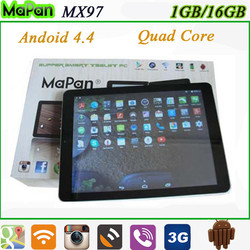 """9.7 """" mtk8382 android phone quad core wifi gps phone tablet android 4.4 mobile phone"""
