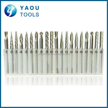 20Pcs 3mm Shank Tungsten Carbide Wood Carving Drill Bit