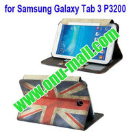 UK Flag Pattern Leather Wallet Case for Samsung Galaxy Tab 3 P3200 With Stand