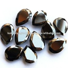 Loose Jet Black Color Moissanite Ring Jewelry Gemstones Round Shape Excellent Cut