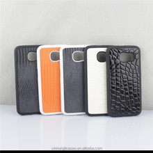 2015 New Product PC TPU Stick Leather Cases For Samsung Galaxy S6