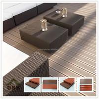 New design 100% recycled floor wood good price wood plastic composite decks anti-uv wpc decking
