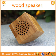 Portable Wooden Speaker Natural Bamboo Square Bluetooth speaker for mobile phone