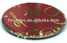 round metal tin CD case