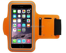 Leather Sports Armband case phone pouch for iphone 6/ 6plus