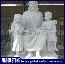 Famous white marble statue of jesus