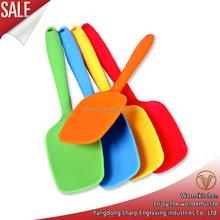 New Silicone Spoon Scraper Heat Resistant Spatula Single One Random Color