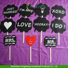 10pcs Photo Booth Props on A Stick Moustache Weddings Favor
