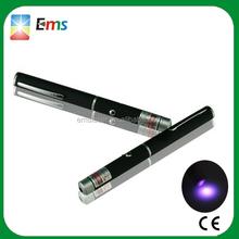 2014 hot sale safe laser pointer uv light pen with laser pointer gift box