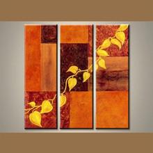 tríptico de pintura al óleo decoraciones de la pared