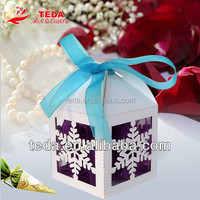 Free shipment 2016Teda Crafts Paper christmas snowflake candy ornament box