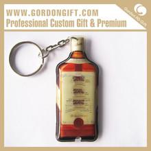 Gift Set Business Idea PKC-029 pvc key chain / plastic key ringwholesale